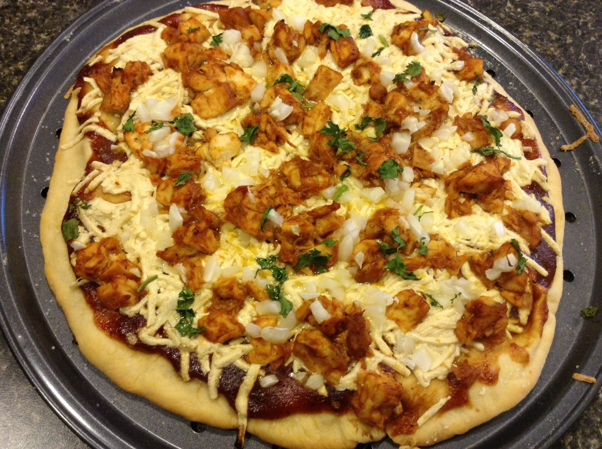 Homemade BBQ Chicken Pizza: Dairy and Egg Free