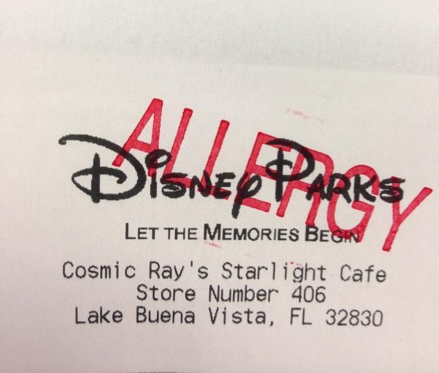 Disney Receipt