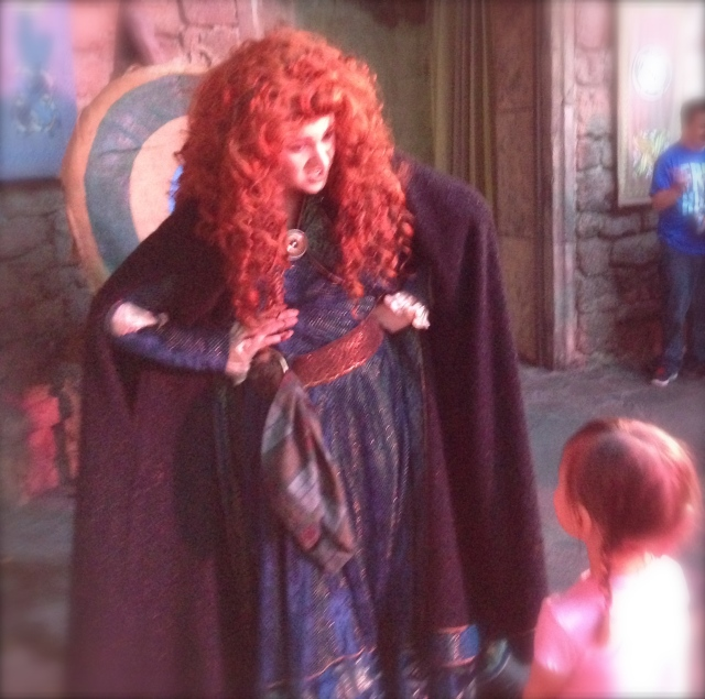 My princess meeting Merida.  One of her favorite moments from our trip.