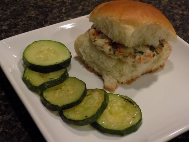 Yummy Ranch Turkey Sliders with Sautéed Zucchini