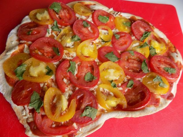 Dairy Free Tomato Basil Pizza