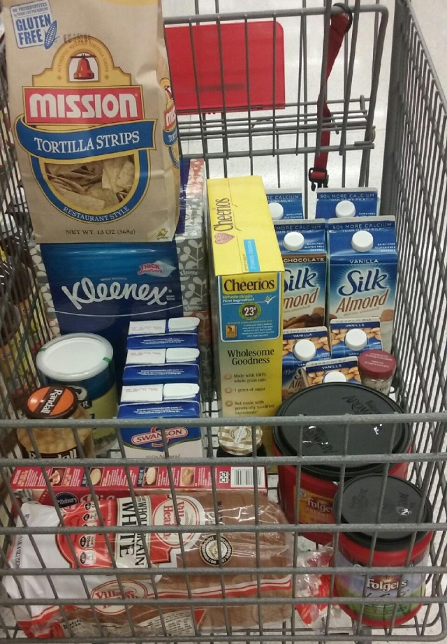 My cart before we hit the produce section.