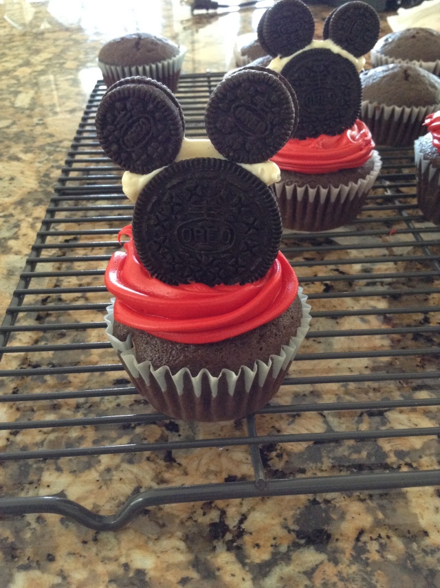 Mickey Mouse Cupcakes for my Nephew